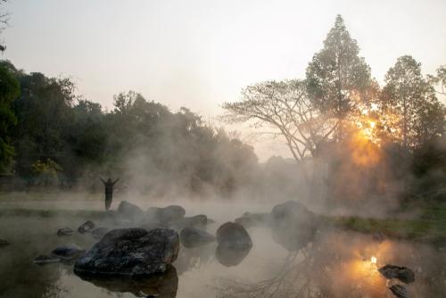 健康運が高まる温泉の待ち受け画像